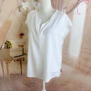 Cloth Stone white Tencel blouse Top